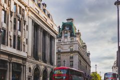 Beautiful architecture in London cty centre next to the Ritz Hot. LONDON, UNITED KINGDOM - August 16th, 2014: beautiful architecture in London cty centre next to Stock Photography