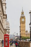 Palace of Westminster and Big Ben in London city centre. LONDON, UNITED KINGDOM - August, 13th, 2015: Palace of Westminster and Big Ben in London city centre Stock Image