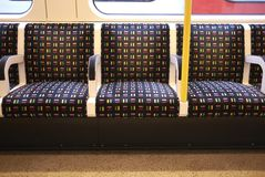 View of the Underground seats royalty free stock photos