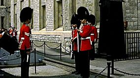 Archival tower of London changing the guard stock video footage
