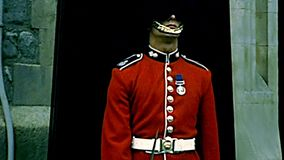Archival Tower of London guard stock video footage