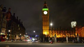 LONDON, UNITED KINGDOM - DEC 1, 2013: Trafic jam near London Westminister House of Parlament at Parlament square on December 1, 20 stock footage