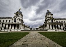 Old Royal Naval College, Greenwich. London, United Kingdom - February 4, 2018: Old Royal Naval College, Greenwich Stock Photos