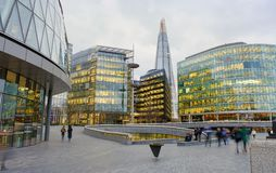 The Scoop, business center in London riverside. LONDON, UNITED KINGDOM - FEBRUARY 22 2017: The Scoop, business center in London riverside Stock Photos