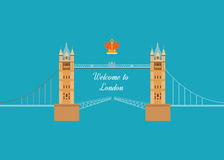 London, United Kingdom flat icons design travel Stock Photo