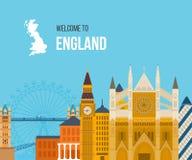 London, United Kingdom flat icons design travel Royalty Free Stock Photography
