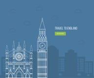 London, United Kingdom flat icons design travel vector illustration