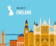 London, United Kingdom flat icons design travel Stock Photo