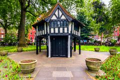 London, The United Kingdom of Great Britain: British architecture in a park Stock Photo
