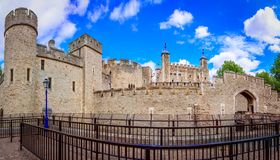 London, The United Kingdom of Great Britain: Tower of London, UK royalty free stock photo