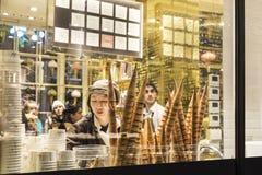 Ice cream shop in London, England, United Kingdom stock images