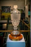 The Ashes Thophy at MCC cricket ground. London, United Kingdom - June 26, 2016 : The Ashes Thophy which was presented by Marylebone Cricket Club in 1999. It is Royalty Free Stock Image
