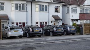 London, United Kingdom, June 2018. In this city the use of Toyota hybrid stock photo