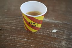 Espresso at Jamie Cafe royalty free stock photography