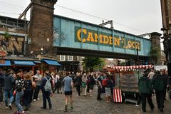 Famous market in Camden Town Royalty Free Stock Images