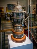 Prudential Cup trophy kept at MCC cricket museum at Lord`s Cricket Ground in London royalty free stock photography