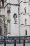 Royal Courts of Justice, gothic style building, facade, London, United Kingdom. LONDON, UNITED KINGDOM - JUNE 22, 2017 : Royal Courts of Justice, gothic style Stock Photos
