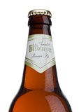 LONDON, UNITED KINGDOM - MARCH 23, 2017: Bottle of Bitburger beer on white.Bitburger brewery is a large German brewery founded in Stock Photos