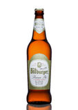 LONDON, UNITED KINGDOM - MARCH 23, 2017: Bottle of Bitburger beer on white.Bitburger brewery is a large German brewery founded in Stock Photography