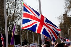 Brexit Day Protest in London royalty free stock images