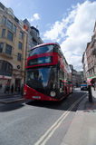 London, United Kingdom - May 30, 2015: English red bus in London Stock Photo