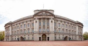 Exterior view of Buckingham Palace stock image
