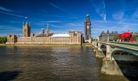 Palace of Westminster, scaffolding Royalty Free Stock Images