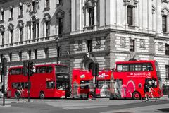 Red double decker in London Stock Image