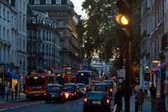 London, United Kingdom - November 18th, 2006: Typical afternoon royalty free stock photos