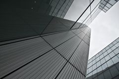 London, United Kingdom - October 22, 2006: Glass and steel offic royalty free stock photography