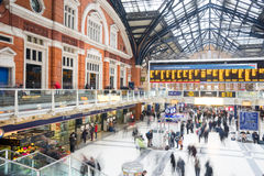 London, United Kingdom OCTOBER 30, 2014 , Liverpool Street Station Stock Photo