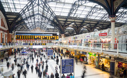 London, United Kingdom OCTOBER 30, 2014 , Liverpool Street Station Royalty Free Stock Photo