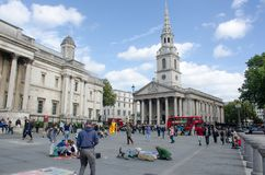 St Martins in the field  from Trafalgar Square Royalty Free Stock Images