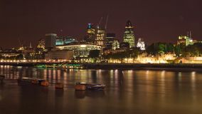 London, United Kingdom - October 7th, 2006: Riverside of Thames, with 'Square Mile' (Financial district - most of banks in the Ci royalty free stock image