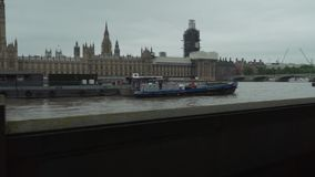 London, the United Kingdom, Palace of Westminster, House of Parliament, Great Britain, The River Thames, Big Ben, walking. London, the United Kingdom, Palace of stock video