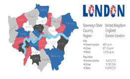 London United Kingdom picture Map  vector Royalty Free Stock Photos