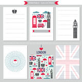 London United Kingdom printable collection Royalty Free Stock Images