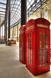 London, United Kingdom - red telephone boxes Stock Image