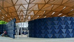 Serpentine pavillon architectural detail during the day in London Stock Images