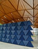 London, United kingdom: Serpentine pavillon architectural detail during the day in London Royalty Free Stock Photo