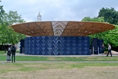 London, United kingdom: Serpentine pavillon architectural detail during the day in London Stock Photos