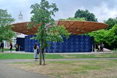 London, United kingdom: Serpentine pavillon architectural detail during the day in London Stock Photography