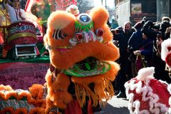 Festivities to celebrate Chinese New Year In London for year of. London, United Kingdom, 18th Febuary 2018:- Festivities to celebrate Chinese New Year in London` stock photography