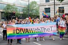 London Pride 50th Aniversary royalty free stock photography