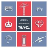 LONDON. United Kingdom. Travel. Set. royalty free illustration