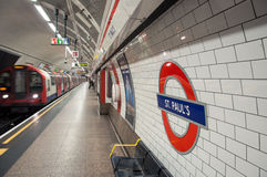 London Untertage Stockfoto