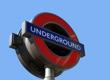London-Untertagegefäß-Zeichen lizenzfreies stockbild