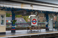 London-Untertageplattform Lizenzfreie Stockfotos