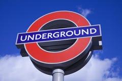 London-Untertagezeichen Lizenzfreie Stockfotografie