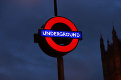 London-Untertagezeichen Lizenzfreies Stockfoto
